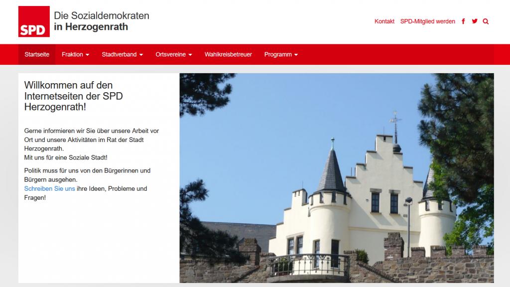 Screenshot der Internetseite der Herzogenrather SPD